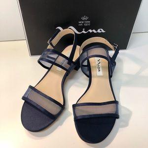 Nina Ganice Navy Sandals